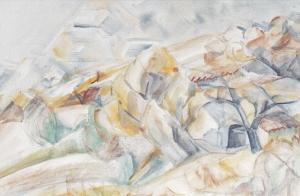 Ferme-à-Mirmande-aquarelle-1952